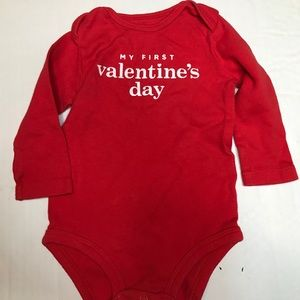Carters 9 month my 1st Valentine's Day onesie